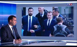 Alexandra Benalla, l'ex-collaborateur du président de la République, sur le plateau de TF1 vendredi 27 juillet 2018.