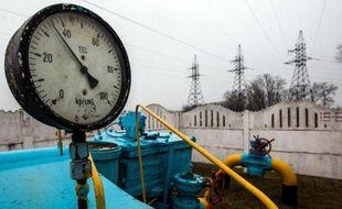Une arrivée de pipe-line, près de Kiev le 4 mars 2014