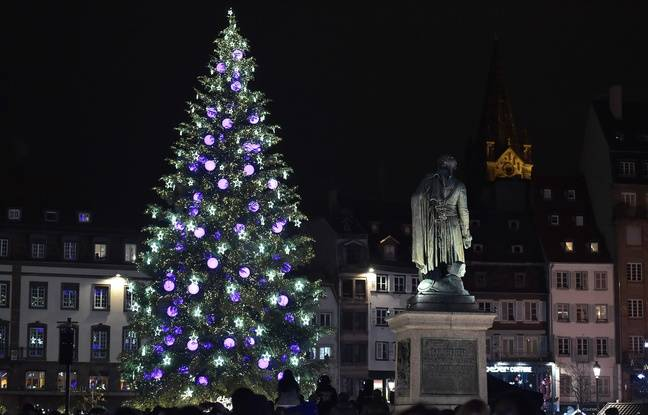 Les illuminations de Noël. Strasbourg le 25 novembre 2016. AFP PHOTO / PATRICK HERTZOGAFP PHOTO / PATRICK HERTZOG