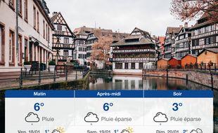 Météo Strasbourg: Prévisions du jeudi 17 janvier 2019