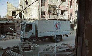 Le convoi humanitaire entre dans la partie rebelle de la Ghouta orientale, le 5 mars.
