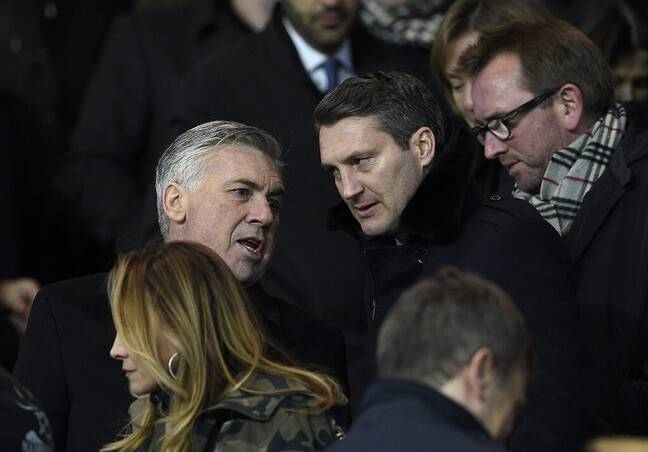 Olivier Létang avec Carlo Ancelotti au Parc des Princes.