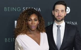 Serena Williams et Alexis Ohanian à New York le 25 avril 2018.