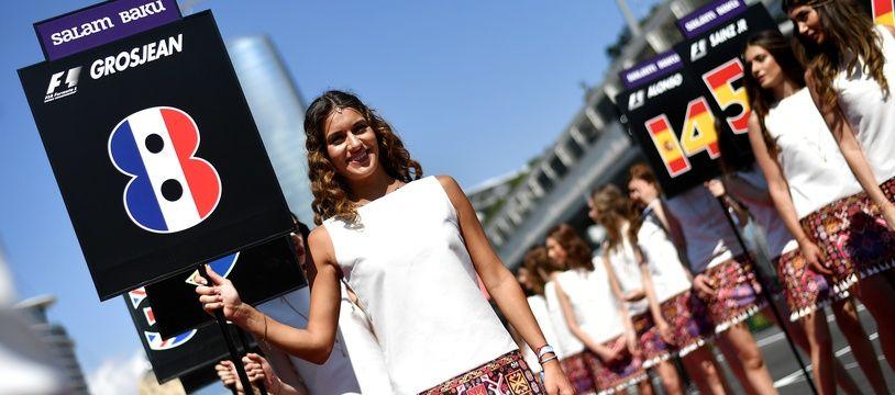Les Grid Girls lors du Grand Prix d'Azerbaïdjan.
