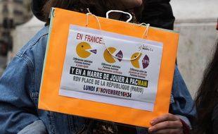(Illustration) Le 7 novembre 2016, des femmes ont manifesté contre les inégalités salariales entre les hommes et les femmes à Paris.