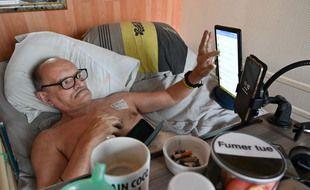 Les derniers jours d'Alain Cocq seront retransmis en vidéo sur Facebook, «pour que les gens sachent ce qu'est la fin de vie actuellement en France.»