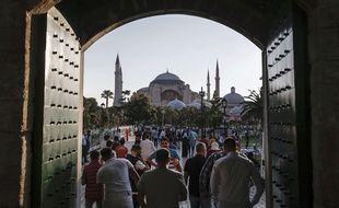 L'ex-basilique Sainte-Sophie d'Istanbul, convertie en mosquée au XVe siècle et transformée en musée au début du XXe.