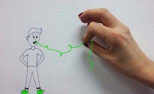 Illustration d'un enfant aidé pour verbaliser ses émotions.