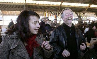 Cécile Duflot et José Bové au contre-sommet de Cancon, le 4 décembre 2010.