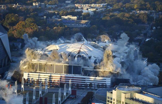 VIDEO. Atlanta: L'un des plus grands dômes d'Amérique détruit à l'explosif