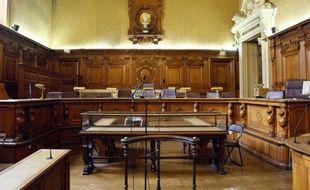 La grande salle d'Assisse de la cour d'appel de  Paris, le 29 avril 2011, où se tient le 3e proces en appel   d'Yvan Colonna.