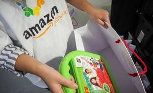 Un salarié d'Amazon (image d'illustration).