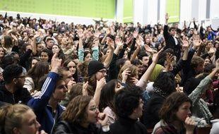 Le vote du blocage de l'université Paris-X Nanterre d'une assemblée générale, le 2 mai 2018. (Archives)