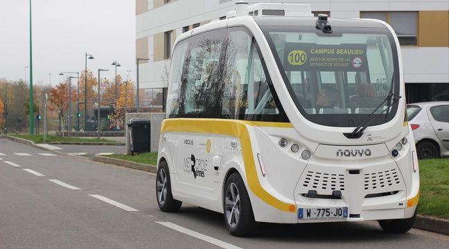Rennes: Deux nouvelles navettes autonomes débarquent sur le campus Beaulieu - 20 Minutes
