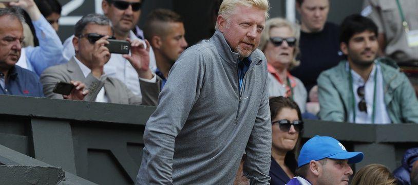 Boris Becker lorsqu'il était coach de Djokovic.