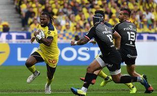 Alivereti Raka ailier de Clermont lors de la finale de top 14 contre Toulouse le 15 juin 2019