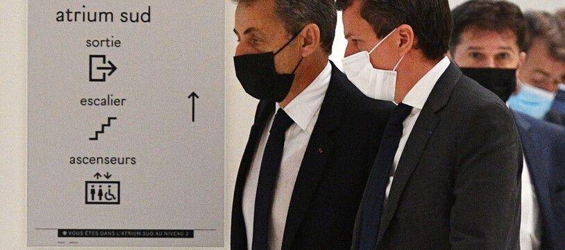 Paris, le 15 Juin 2021. Nicolas Sarkozy arrive au tribunal judiciaire de Paris pour être interrogé sur l'affaire Bygmalion.
