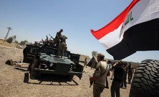Les forces irakiennes à l'extérieur de Fallouja, le 22 mai 2016.