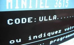 Capture d'écran d'une vidéo Youtube présentant la page Minitel 3615 Ulla.