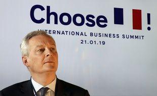 Bruno Le Maire, le 22 janvier 2019 à Davos.
