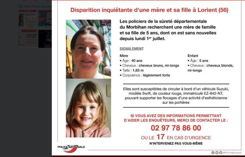 Lorient: Un appel à témoins lancé pour retrouver une mère et sa famille