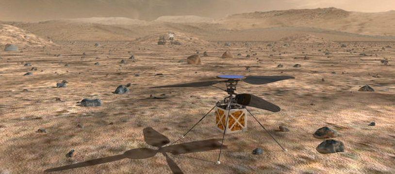 Ici le robot perseverance envoyé par les Etats-Unis vers la planète Mars et qui devrait s'y poser en février 2021
