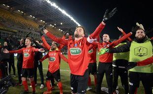 La joie des Herbretais après le quart de finale gagné contre Lens.