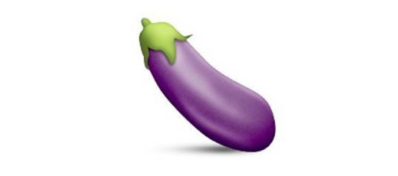 L'émoji aubergine.