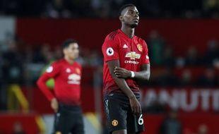 Paul Pogba lors de la défaite de Manchester United face à Tottenham (0-3), le 27 août 2018.