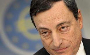 Mario Draghi, président de la BCE, à Francfort le 6 février 2014