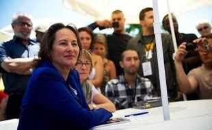 Segolène Royal, candidate aux primairex socialistes participe à la journée de l'engagement de la jeunesse à Aubervilliers le 3 juillet 2011