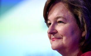 La tête de liste de la République En Marche Nathalie Loiseau lors d'un meeting au Medef, le 25 avril 2019.