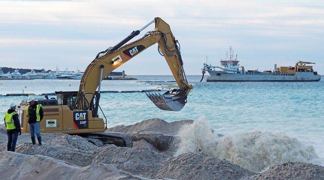 Les plages de la Croisette vont presque doubler (et ça en fait du sable)