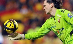 Le gardien croate vedran Runje sous le maillot de Lens, en 2011.
