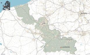 La commune de Landrecies, dans le Nord.