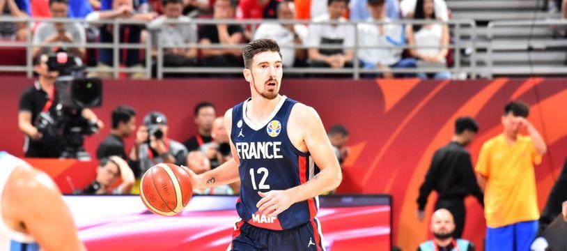 Nando De Colo pendant la Coupe du monde de basket 2019.