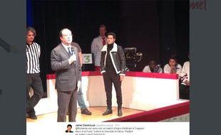 Capture écran d'une photo de François Hollande de Jamel Debbouze publiée par le comédien le 7 février 2014.