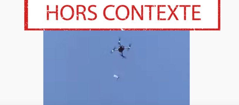 La vidéo d'un drone sortie de son contexte après les deux explosions au port de Beyrouth.