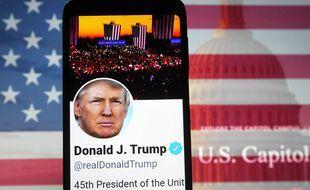 Le compte Twitter de Donald Trump (illustration).