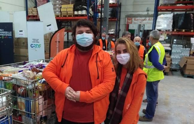 Florian et Pauline, en service civique, se mobilisent à Marseille pour la campagne 2020 des banques alimentaires.