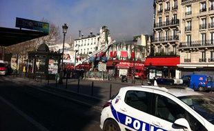 L'Elysée-Montmartre en feu, le 22 mars 2011.