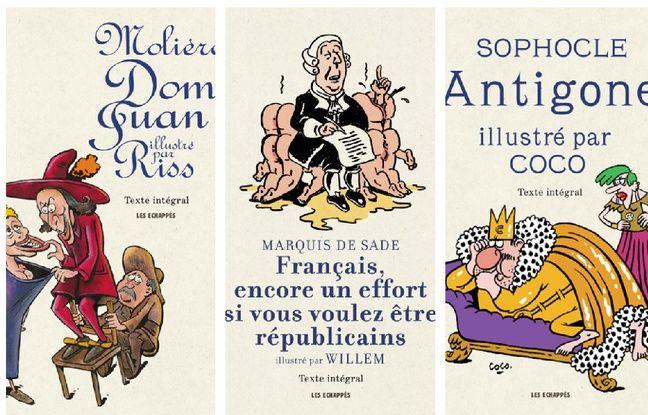 Les trois premiers ouvrages de la nouvelle collection «Classiques Illustrés», aux éditions Les Echappés