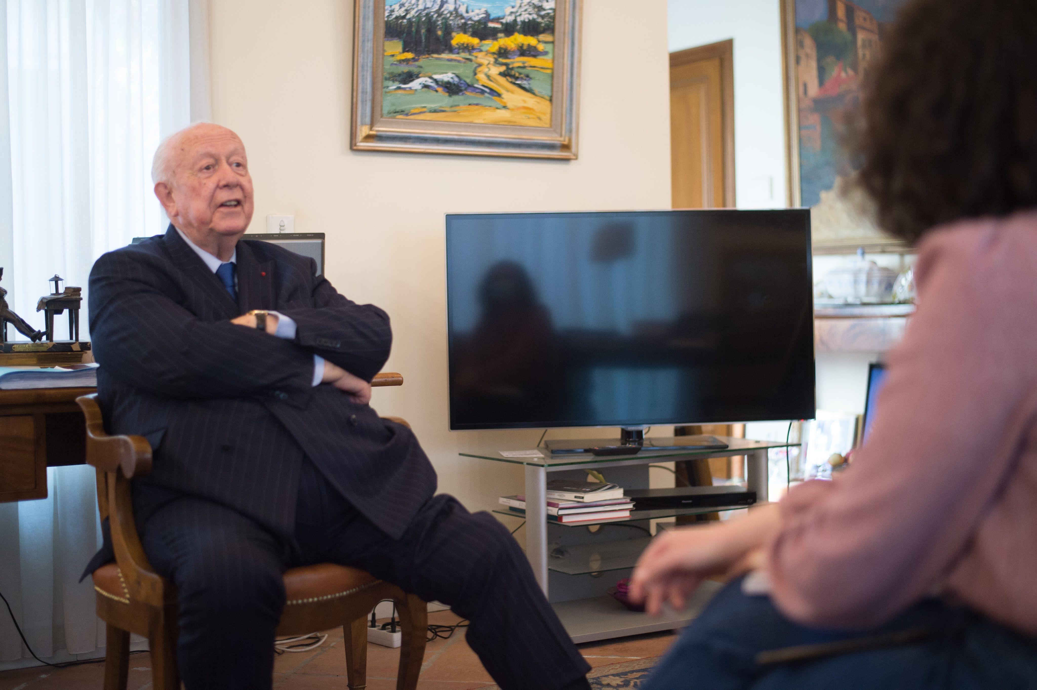 Jean-Claude Gaudin, chez lui le 31 mars 2021, jour de la sortie de ses mémoires