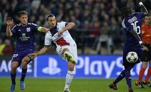 L'attaquant du PSGZlatan Ibrahimovic contre Anderlecht, le 23 octobre 2013, à Bruxelles.
