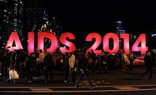 La conférence internationale sur le sida de Melbourne, en Australie, le 18 juillet 2014.