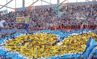 Le tifo du virage Sud du stade Vélodrome, le 19 octobre 2014, avant OM-Toulouse.