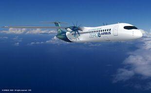Le turbopropulseur (à hélices), zéro émission, imaginé par Airbus.
