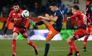 Morgan Sanson avec Montpellier, contre Dijon