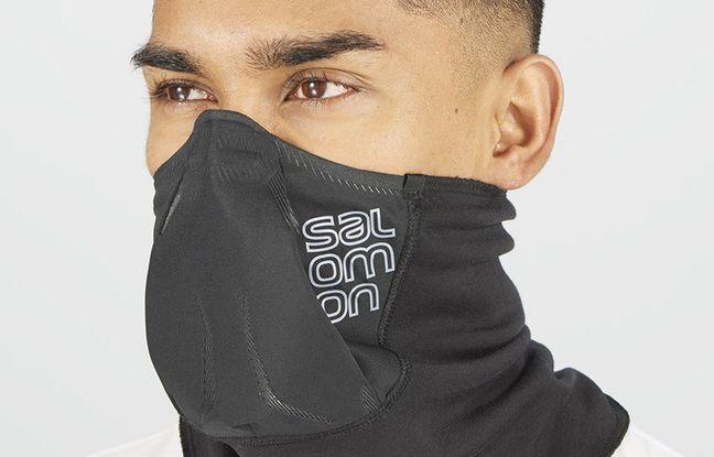 Le masque Salomon se présente aussi dans une version sports d'hiver avec un cache-cou.