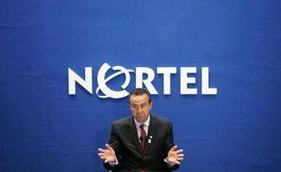 Le président du groupe Nortel, Mike Zafirovski, pendant une conférence de presse à Ottawa, le 2 mai 2007.